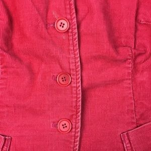 J. Crew Jackets & Coats - J. Crew Pink Corduroy 3 Button Jacket Stretchy